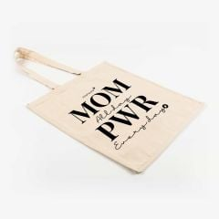 MOM PWR Tote Bag Stofftasche in Weiß