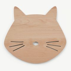 Troy Wooden Lamp Cat in Natural
