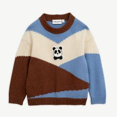 Panda Knitted Wool Pullover in Brown