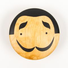 """Salvador"" Round Wall Hook Made of Wood"