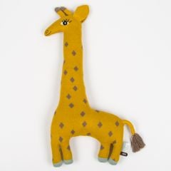 """Noah the Giraffe"" Yellow Cushion and Stuffed Animal"