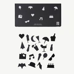 Party Icons for Message Board in Black