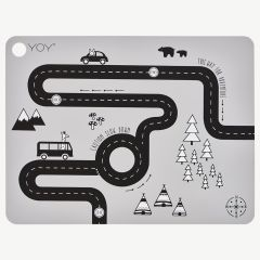 """Gray """"Adventure"""" Placemat"""