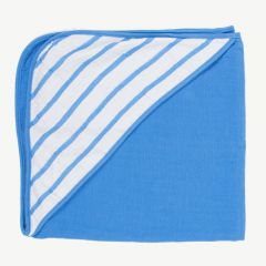 """Coco Brush"" Endless Blue Hooded Bath Towel"