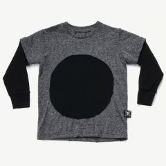 Circle Patch T-Shirt in Gray