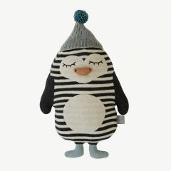 Darling Cushion - Baby Bob Penguin in Black/ White