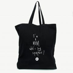 Black SuperMom Tote Bag