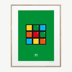 LE DUO 80 CUBE Poster in Green