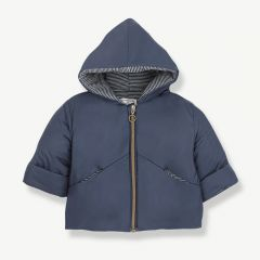 """Laval"" Hood Jacket in Dark/ Light Blue"