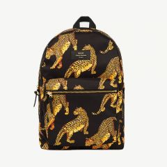 Leopard Backpack in Black/ Yellow