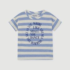 Shall You Dance Gestreiftes T-Shirt in Blau