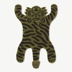 "Safari ""Tiger"" Tufted Rug in Green"