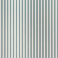 Thin Lines Wallpaper in DustyBlue/OffWhite