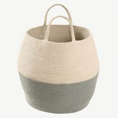 Basket Zoco in Natural&Vintage Blue
