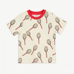 Tennis aop ss Tee in Offwhite