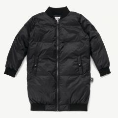 Down Bomber Coat in Black