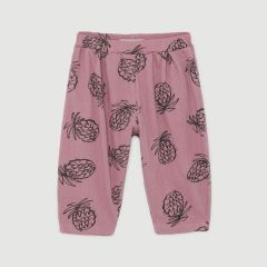 All Over Pineapple Jersey Trousers in Heather Rose