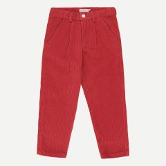 Corduroy Pleated Pants in Burgundy
