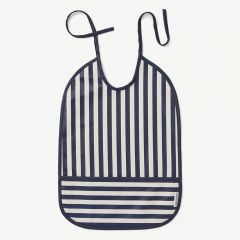 Lai Bib with Stripes: Navy/Creme de la creme