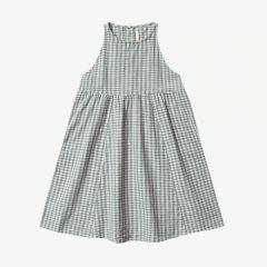 Zoe Gingham Kariertes Kleid in Blau