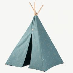 Phoenix Teepee in Gold Confetti & Magic Green