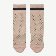 Sofia Lurex Knee Socks in Beige