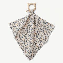 Dines Teether Cuddle Cloth with Coral Floral/Mix Print