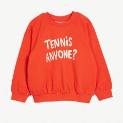 Tennis Anyone Sweatshirt aus Bio-Baumwolle in Rot