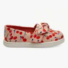 Alpargata Espadrilles with Cherry Print in Coral Pink