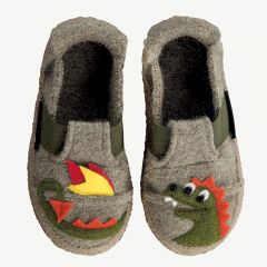 """Dragon"" gray slippers"