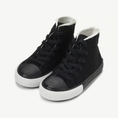 High Top Sneakers in Schwarz