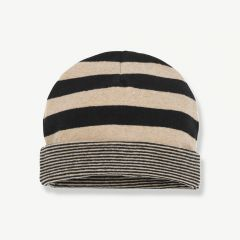 """Linz"" Beanie in Black/ Beige"