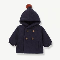 """Halifax"" Hood Jacket in Dark Blue"
