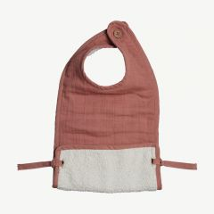 Muslin Feeding Bib - Clay