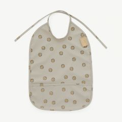 Lion Bib in Grey
