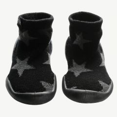 Star Slippers in Black