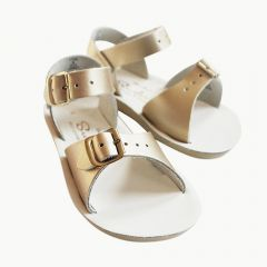 Surfer Ledersandalen für Kinder in Gold