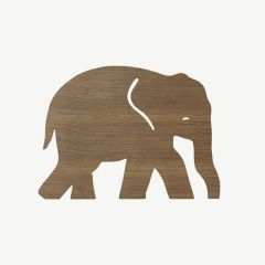 Elephant Lamp in Smoked Oak