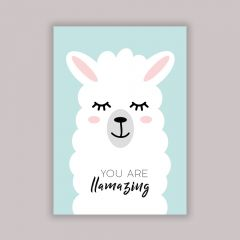 """""""You are llamazing"""" Poster in A4"""
