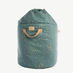 Bamboo Toy Bag in Gold Confetti/ Magic Green