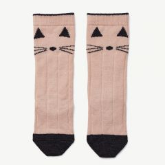 Sofia Wool Knee Socks in Pink