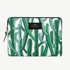 "Green iPad Cover with ""Wild Cactus"" Print"