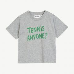 Tennis Anyone T-Shirt aus Bio-Baumwolle in Grau Melange