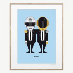 "LE DUO Solo ""Daft Punk"" Poster"