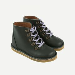 Trekking Leather Boots in Bottle Green