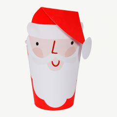 Christmas Santa Cups in Red/ White - Pack of 8