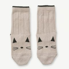 Silas Cotton Socks Cat in Sweet Rose (2 pack)