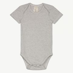 Baby Onesie in Grey Melange & Cream Stripe