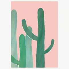 """Poster """"Cacti"""" in Pink (A3)"""