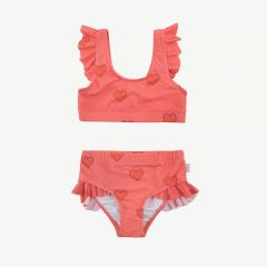 """Hearts"" Swim Set in Light Red/Red"